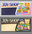 layouts for toy shop vector image vector image