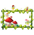 magic fairy tale frame vector image vector image