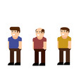 male character icon set vector image