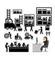 manufacturer and distributor icon for business vector image vector image