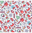 merry christmas celebration seamless pattern vector image vector image