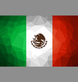 mexico flag abstract polygon background vector image