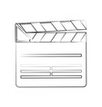 movie clapboard isolated vector image