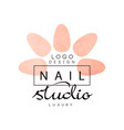 nail luxury studio logo design element for nail vector image vector image