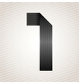 Number metal ribbon - 1 - one vector image vector image