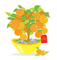 orange tree happy chinese new year cartoon vector image vector image