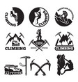 outdoor pictures adventures and mountain climbing vector image vector image