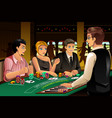 people gambling in a casino vector image