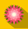 pink lotus flower icon flat style vector image