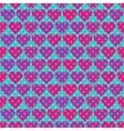 Polka dot and Hearts vector image vector image