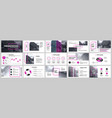 presentation template purple elements for slide vector image vector image