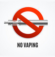 realistic detailed 3d no vaping concept vector image