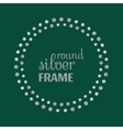 Round silver frame with dots vector image vector image