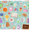 School icons seamless pattern background vector image vector image