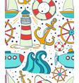 sea seamless pattern childrens background of vector image vector image