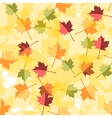 Seamless Autumnal background with leaves of maple vector image
