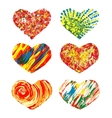 Set of hearts hand drawn design elements EPS10 vector image