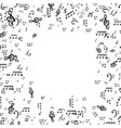 set of musical notes treble clef vector image vector image