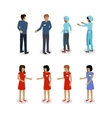 Set of Sellers Characters Shop Assistans vector image vector image