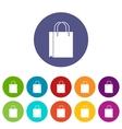 Shopping bag set icons vector image vector image