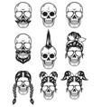 skull silhouette symbol black color vector image