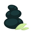 smooth stones placed one on another and small vector image vector image