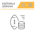 sports betting line icon vector image