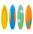 surfboard icons vector image