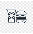taco concept linear icon isolated on transparent vector image