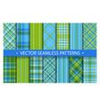tartan set pattern seamless plaid geometric vector image vector image