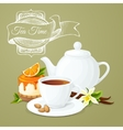 Tea party poster vector image vector image