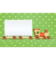 Toy railway background vector image vector image