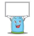 up board liquid soap character cartoon vector image vector image