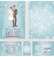 wedding invitation setbridegroomwinter season vector image vector image