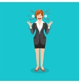 Woman full of anger is shouting something with vector image vector image