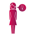 woman pictogram cartoon vector image vector image