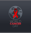 world cancer day icon design logo vector image