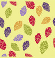 seamless pattern of colorful leaves vector image