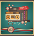 271boombox disco party vector image vector image