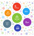 7 anchor icons vector image vector image