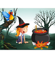 A witch in the jungle vector image vector image