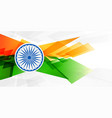 abstract indian flag in geometric shape style