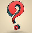 Abstract question mark sketch vector image