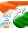 airplane offer for independence day india vector image vector image