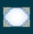 background frame with ornaments made precious vector image vector image