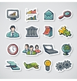 Business Stickers Set vector image vector image