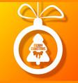 christmas ball holiday postcard vector image vector image