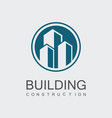 circle building construction logo vector image vector image