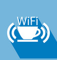 coffee cup wireless icon vector image