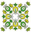 colorful hand drawn mandala paisley on white vector image vector image